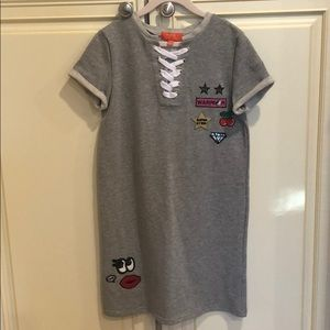 Butter t-shirt dress with patches